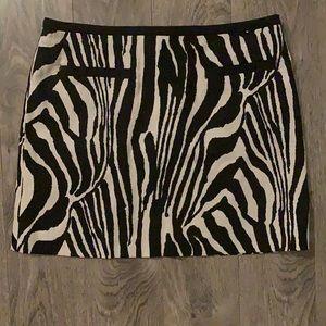 H & M Zebra Skirt VGUC